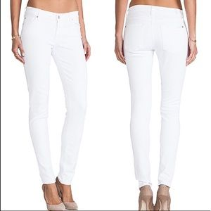 7 For All Mankind The Skinny Jeans White Size 28